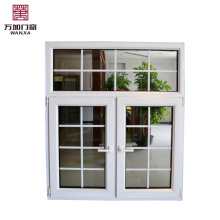 pvc casement window with grill designs used in balcony PVC casement window with grill designs used in balcony