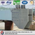 Costruiti parti in acciaio pesante per ponte