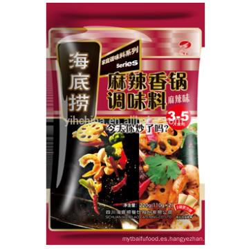 Condimento básico de batido con Haidilao Condimento y vegetales en escabeche en Caldo