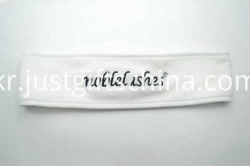 100% Polar Fleece Headbands w Embroidered Logo - White (2)
