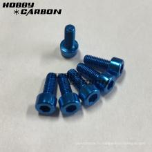 Легкие M5 красочные 7075 алюминиевых колпачковых винта с шестигранной головкой