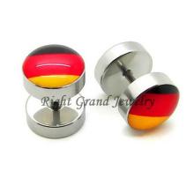 Piercings chirurgicaux faux d'oreille de l'acier inoxydable 316L 10mm