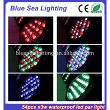 Цена по прейскуранту завода-изготовителя 54pcs x 3w вело свет дискотеки этапа свет водоустойчивый свет водить par