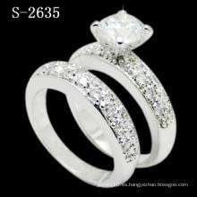 Elegante Combination 925 Silver Micro Lady Ring (S-2635. JPG)