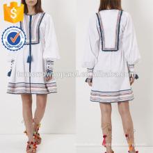 Новая мода Белый вышитые платье Производство Оптовая продажа женской одежды (TA5242D)