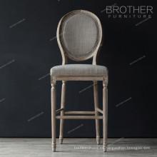 Sala de estar lujosa de alta calidad con respaldo redondo Silla con barra francesa