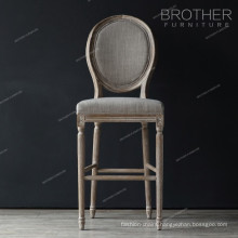 High quality fancy living room round back french bar chair