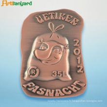 Logo personnalisé Insigne à broche en métal avec placage