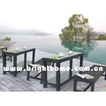 Simples Design Rattan Wicker Ao ar livre Jantar Set Bg-Mt023