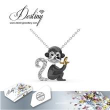 Destin bijoux cristal de Swarovski singe pendentif & collier