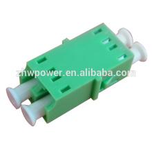 Adaptador de fibra óptica, LC / APC dúplex, adaptador monomodo lc