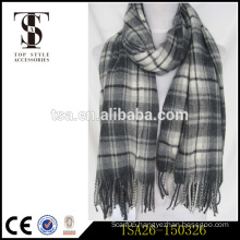 checked and stripe african muslim women scarf winter 2015 latest design
