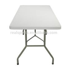 Tabla plegable plástica de la mesa plegable de 6FT HDPE y mesa plegable de la mesa de picnic / del soplo
