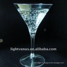 Verre à cocktail en plastique transparent