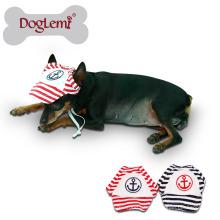 Hundehaustier-Katze-Baumwollhut-Sport-Baseball-Streifen-Kappe mit Ohr-Löchern