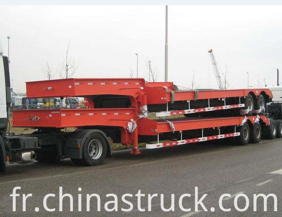 40Ton trailer low bed truck