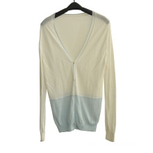 Spring Soft V-Neck Knit Women Cardigan with Button