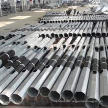galvanized electric steel transmission line poles from professional factory