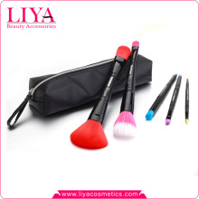 Hot Sales 5pcs double ended travel size cosmetic brush set