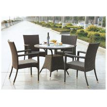 Hotel Use PE Rattan Wicker Furniture Round Patio Set