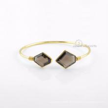 Rauchiges Quarz-Goldarmband, Großhandelslieferant für Edelstein-Armband-Schmucksachen