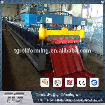 China Hoja de techos de perfil de aluminio IBR que hace la máquina, línea de galvanización fría