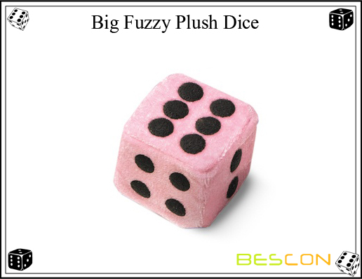 Bescon- Big Fuzzy Plush Dice