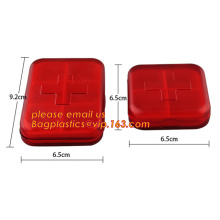Cold sealing pill box medication punch card, plastic box pill case, 7 compartment pill box - weekly pill box