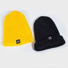 Woven Label Beanie Man Knitted Hat