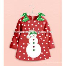 Desgaste da Noite personalizado Define Dos Desenhos Animados Crianças Natal Pijamas Neve Homem Roupas de Bebé