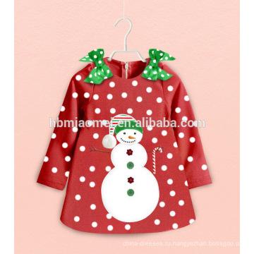 Пользовательские Ночной Одежда Наборы Мультфильм Дети Рождество Пижамы Снежный Человек Девочка Одежда