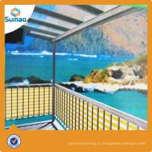 Горячая продажа балкон патио ветра балкон чистый с низкой ценой