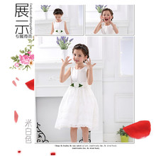 new fashion girl wedding dress design white fancy princess dress lastest children frock model