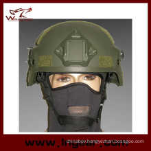 Military Mich 2000 Ach Helmet with Nvg Mount & Side Rail Action Version Helmet Od