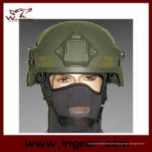 Mich 2000 Ach Militärhelm mit Nvg Mount & Seite Rail Action Version Helm Od