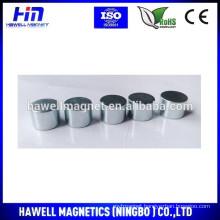neodymium cylinder magnet D16*3mm blue Zn coating