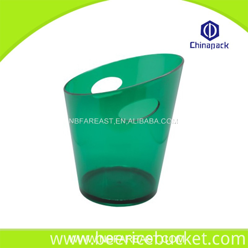 Promotion custom unique shaple transparent ice bucket