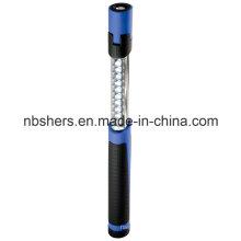 Dual-Función telescópica telescópica de 11 LED de luz de trabajo antorcha base magnética