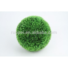 2015 China decorative round artificial hanging grass ball wtih chain