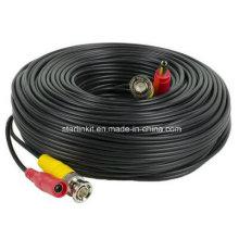 Сиамский Rg59 с силовым кабелем для камеры видеонаблюдения 75 Ом