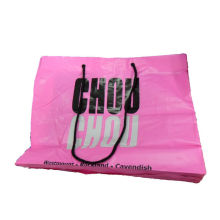 Bottom Up Hdpe Rope Handle Paper Bags Pink With 500mm Width , Pink