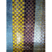 Carrelage en mosaïque en miroir de diamant en verre (HD063)