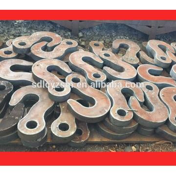 plaque d'acier doux coupé à la taille