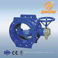steam gas water double eccentric butterfly valve bidirection flange triple butterfly valve dn400