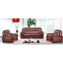 Burgundy Full Leather Genuine Traditional Leather Sofa Set