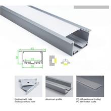 Barra de perfil de aluminio empotrada de 50 * 32mm del techo para la luz del LED