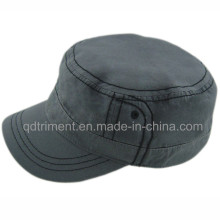 Heavy Washed Plain Cotton Cloth Army Military Cap (ESPM00489)