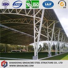 Edificio de estructura de armadura de tubería de acero