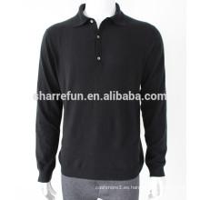 Venda al por mayor el suéter hecho punto llano hecho punto 12gg de la cachemira para los hombres