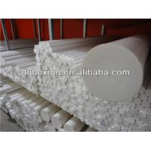 Extrudé pièces isolantes électriques de 6 mm à 200 mm blanc / noir Turcite-B PTFE / F4 / Téflon Rod / bar / round